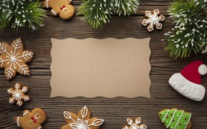 Picture decoration, cookies, Christmas, New year, new year, Christmas, wood, cookies, decoration, gingerbread, gingerbread, fir tree, …
