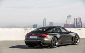 Picture Audi, coupe, shadow, 2018, e-tron GT Concept, the four-door