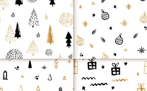 Picture white, background, golden, black, pattern, collection