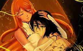 Picture romance, hugs, Bleach, Bleach, Ulquiorra Schiffer, Inoue Orihime