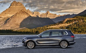 Picture BMW, side view, 2018, crossover, SUV, 2019, BMW X7, X7, G07