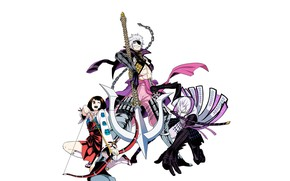 Picture weapons, trio, characters, Sengoku Basara, The Era Of Unrest