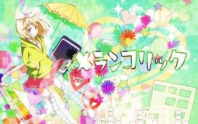 Picture girl, bright, Vocaloid, Rin