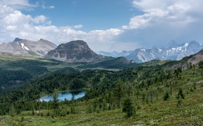 Picture mountains, nature, panorama