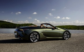 Picture Lexus, convertible, side view, 2021, LC 500 Convertible