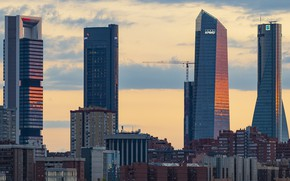 Picture Spain, Madrid, Sunday Sunset