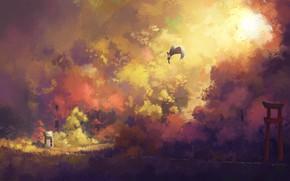 Picture Painting, Touhou, shameimaru aya, Touhou, fjsmu