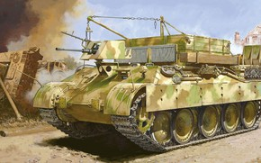 Picture The mountain Panther, BRAM, Sd.Car.179, Mountain Armored Panther, Armoured repair and recovery vehicle, German armored, ...