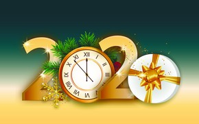 Picture arrows, New year, dial, 2020