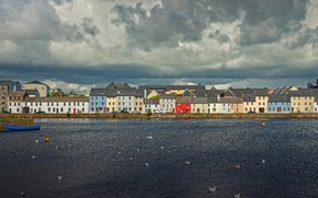 Picture clouds, home, Ireland, Galway