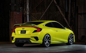 Picture wall, coupe, Honda, 2015, Civic Concept