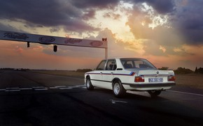 Picture BMW, back, sedan, track, 1976, four-door, 5-series, E12, 530 MLE