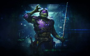 Picture Sci-Fi, Background, Style, Alex Borsuk, by Alex Borsuk, TMNT, Donnie, Fantasy, Donatello, Teenage mutant ninja …