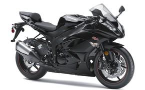 Picture black, motorcycle, white background, bike, motorcycle, superbike, sportbike, Kawasaki Ninja ZX-6R