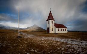 Picture nature, Island, Hellnar Church