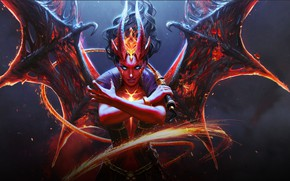 Picture the demon, Horns, DotA 2, Queen Of Pain