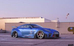 Picture Auto, Blue, Machine, Nissan, GT-R, Rendering, Nissan GT-R, Transport & Vehicles, Zoki Nanco, by Zoki …