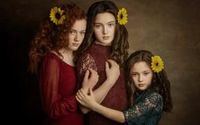 Picture background, girls, portrait