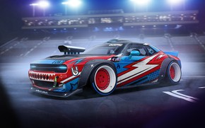 Picture Auto, Machine, Dodge, Challenger, Art, Dodge Challenger, Rendering, Dmitry Strukov, Dizepro, by Dmitry Strukov, Drift …