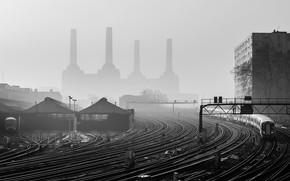 Picture Train, The way, Depot, Power, Haze, Hangars, Junction