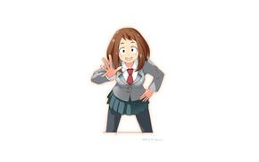 Picture minimalism, My hero Academy, My Hero Academia, Boku No Hero Academy, Uraraka, Ochako