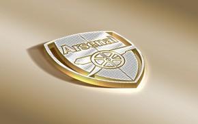 Picture Logo, Golden, Football, Arsenal, Sport, Soccer, Emblem, Arsenal FC, English Club