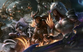 Picture look, weapons, the opposition, armor, Smite- 5 VS 5 battle