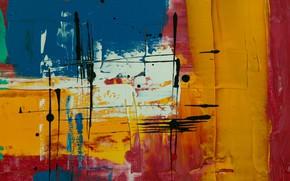Picture paint, blots, canvas, strokes