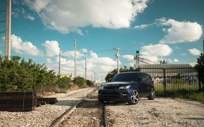 Picture Land Rover, Range Rover, Sky, Blue, Railway, Sport