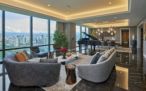 Picture design, style, interior, piano, megapolis, living room, dining room