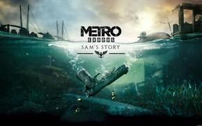 Picture water, bridge, gun, Metro Exodus