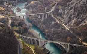 Picture Slovenia, Three Bridges, Solkan