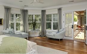 Picture interior, balcony, bedroom, Arlington