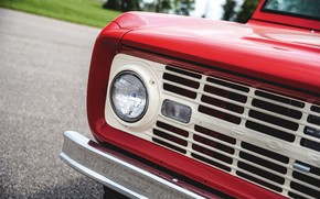 Picture red, Roadster, Ford, headlight, 1966, Bronco, slot