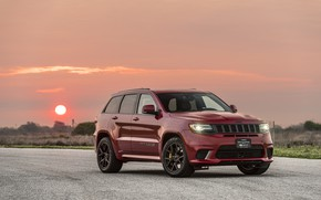 Picture sunset, the evening, 2018, Hennessey, Jeep, Grand Cherokee, Trackhawk, HPE1000