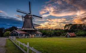 Picture landscape, nature, the city, mill, Netherlands, Holland, Deventer, community, Deventer