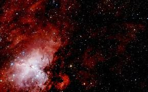 Picture Stars, Nebula, Messier 17, Wide Field View, Messier 16, Constellation of Serpens Cauda, Protostars, Field …