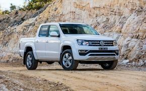 Picture Volkswagen, pickup, Amarok, quarry, 2017, Sportline