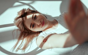 Picture look, girl, smile, Sasha Rusko, Anna Carpenter