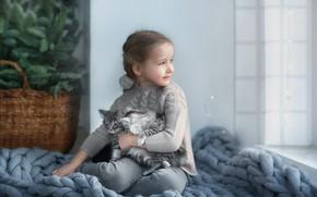 Picture kittens, Girl, photographer Anastasia Barmina