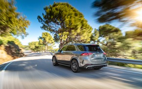 Picture road, machine, asphalt, the sun, trees, Mercedes-Benz, crossover, Mercedes-AMG, GLE 53, 4Matic+
