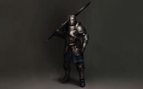 Picture Concept Art, Knight, Sword, Armor, Sketch, Alejandro Castillejo, European Warrior