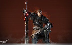 Picture the game, sword, warrior, male, Icarus