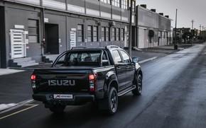 Picture black, street, pickup, Isuzu, D-Max, 2019, X-Rider Black
