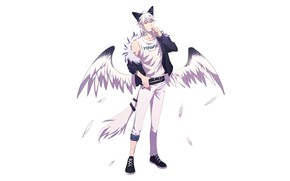 Picture style, wings, being, mask, tail, guy, ears