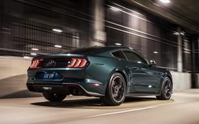 Picture lights, movement, Ford, 2018, V8, Mustang Bullitt, 5.0 L., 460 HP, fastback