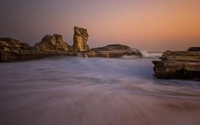 Picture sea, nature, rocks