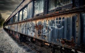 Picture Graffiti, Old, Rustic, Restoration Depot, Vintage Train
