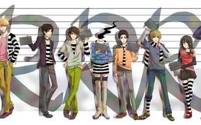 Picture style, photo, art, characters, Durarara, Durarara, Of Izaya Orihara, Shinra, Masaomi Kedar, Mikado Ryugamine, Henri …