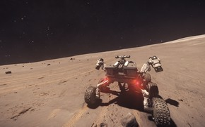 Picture space, the surface of the planet, Rover, Elite: Dangerous